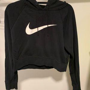 Cropped black Nike hoody
